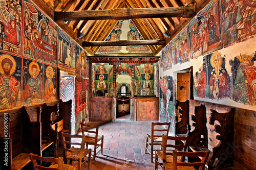 Inside the church of Archangel Michael at Pedoulas village, Cyprus Wallpaper Mural