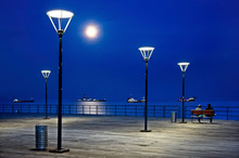 Night Falling At The Promenade...