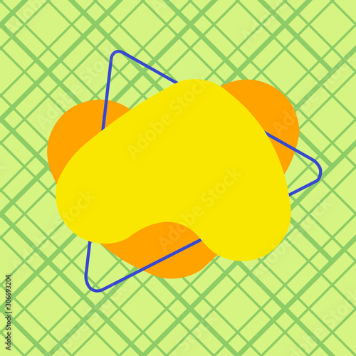 Fototapety, obrazy: Asymmetrical uneven shaped format pattern object outline multicolour design Design business concept Empty copy text for Web banners promotional material mock up template