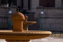 Two Water Fountains At Columbia University In The City Of New York