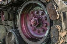 Detail Of A Tanks Caterpillar Drive.