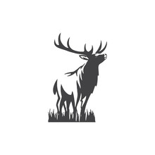 Deer Logo Vector	Design Icon