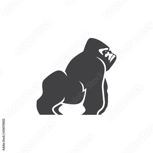 gorilla logo vector Wallpaper Mural