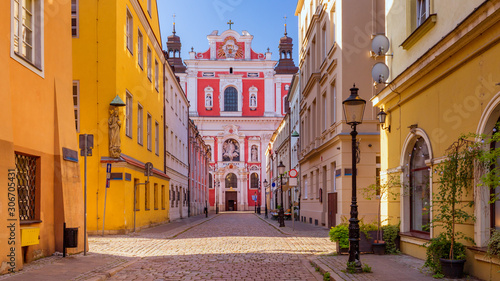 historic street in Poznan in the old town