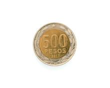 Chilean Money, 500 Pesos Coin