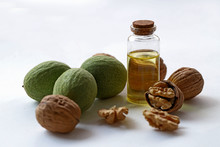 Fresh And Dried Walnuts And Walnut Oil
