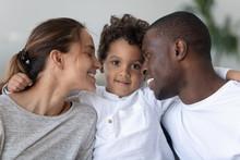 Happy Mixed Race Family Bondin...