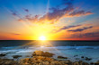canvas print picture - Sun rise over the sea. The concept is travel.