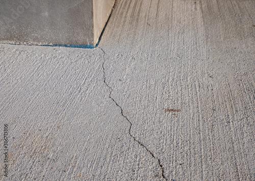 Riss im Beton Bauschaden Wallpaper Mural