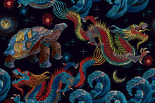 Embroidery. Chinese Dragons, S...