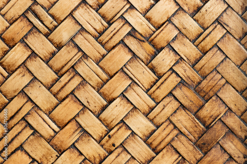 Obraz Closed up of wood weave textured background - fototapety do salonu