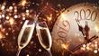 Leinwanddruck Bild - New Years Eve celebration background