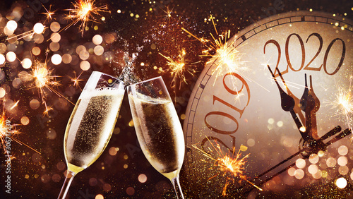 Photo  New Years Eve celebration background