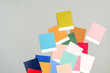 Color palette with various samples. Fashion Color trend. .