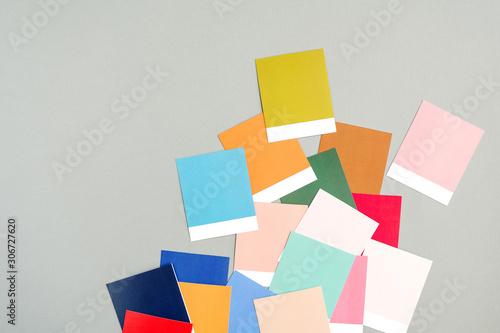 Vászonkép Color palette with various samples. Fashion Color trend. .