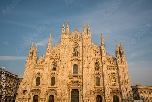 Duomo di Milano church in the afternoon in sunny day, Milan Italy Canvas Print