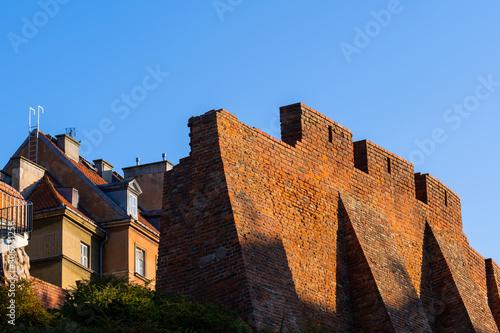 Defensive City Wall With Buttresses In Warsaw Tapéta, Fotótapéta