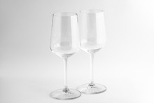 Two Clean Wine Glasses