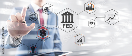 Federal Reserve System. FED. Financial Business Background. Fototapet