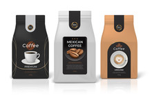 Coffee Package Mockup. Realist...