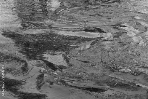 Foto auf Leinwand Darknightsky Fluss Wasser Strom