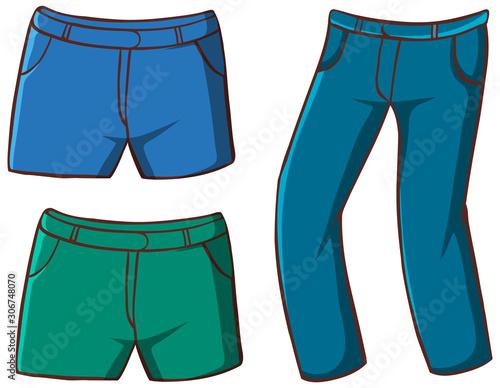 Obraz Isolated set of pants - fototapety do salonu