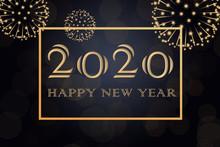 Happy New Year 2020 Background...