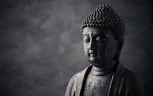 Meditating Buddha Statue On Da...