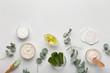 Leinwandbild Motiv Moisturizing cream of natural and eco friendly materials on white