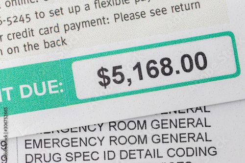 Emergency Room Billing Amount Owed Canvas Print