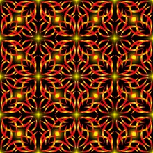 Seamless Endless Pattern Of Re...