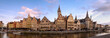 canvas print picture - panorama of the ghent