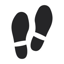 Print Of Shoe Vector Icon.Blac...