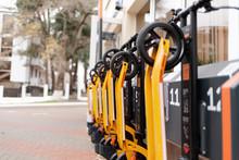 The Eco-vehicles. Orange Elect...