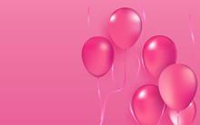 Realistic Vector Party Balloon...