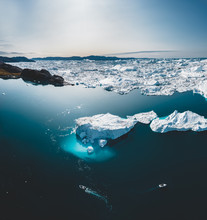 Iceberg And Ice From Glacier I...