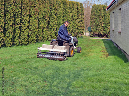 Lawn aeration 2 Tablou Canvas