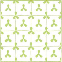 Vintage Lime Green & White Pet...
