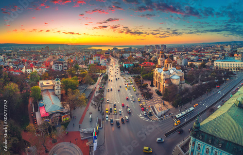 Photo  The Cathedral of the Assumption in Varna, Aerial view