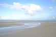 canvas print picture - Meereswellen, Himmel, onne und Wolken, Schatten und Licht