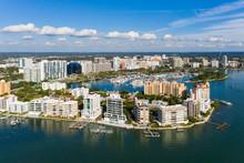 Sarasota Downtown Drone Aerial Landscape Photo