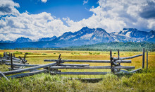 Sawtooth Mountains In Stanley,...