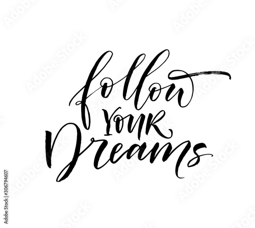Photo  Follow  your dreams card