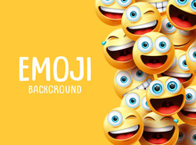 Emojis Vector Background. Funn...