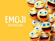 Emojis Vector Background. Funn...