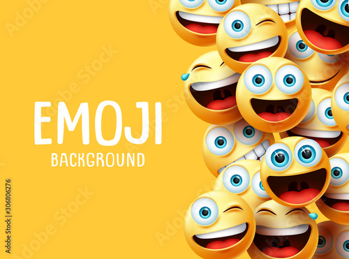 Photo Emojis vector background