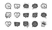 Yummy Smile Icons. Emoticon Sp...