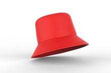Blank Bucket Fisherman Promotional Hat Or Cap. 3d Render Illustration.