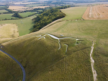 Uffington White Horse By Drone