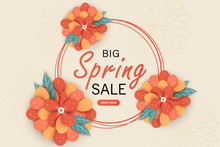 Spring Sale Banner Template Wi...